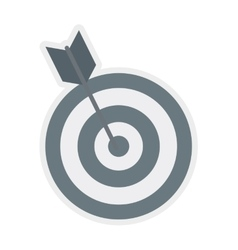 Target and arrow icon Game design graphic vector