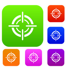 target set collection vector image