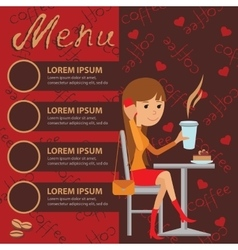 template for menu brochure vector image