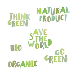 Think green Natural product save the world bio vector image vector image
