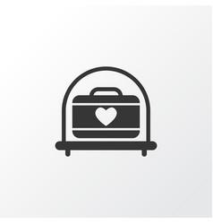 transportation of suitcase icon symbol premium vector image