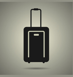 travel bag icon in black and white style vector image