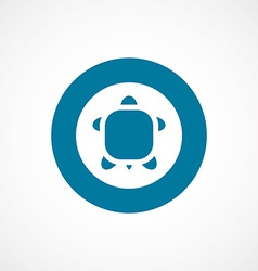 turtle bold blue border circle icon vector image
