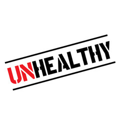 Unhealthy black stamp vector