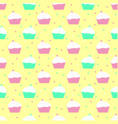 violet and mint cakes pattern vector image