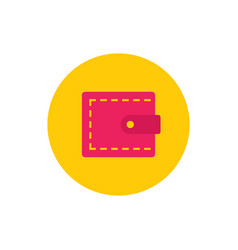 wallet - concept colored icon in flat graphic vector image