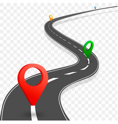 way and direction plan vector image