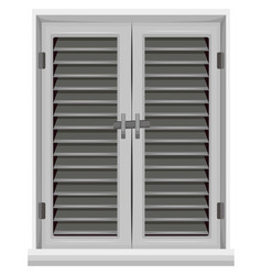 window in gray color vector image