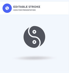 yin yang icon filled flat sign solid vector image