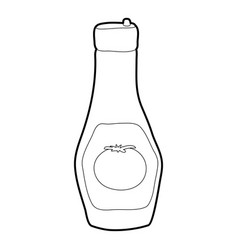 bottle of ketchup icon outline style vector image