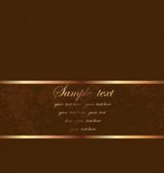 brown card vector image vector image