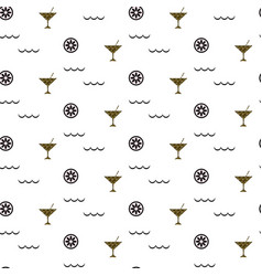 cocktail bar glitter glass seamless pattern vector image vector image