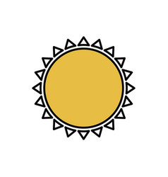 color beautiful sun abstract icon vector image vector image
