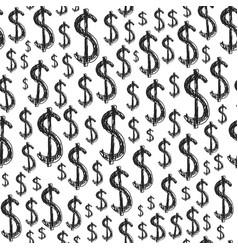 dollars seamless pattern vector image vector image