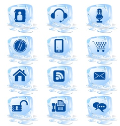 ice icons vector image vector image