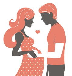 Silhouette of couple vector image