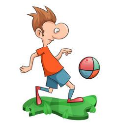 sweet man plays football vector image
