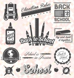 Back to School Labels and Icons vector image