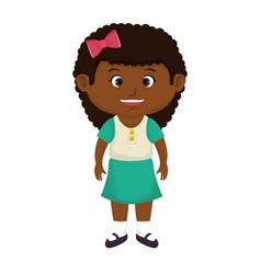 cute little black girl character vector image