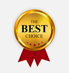 gold label the best choice template vector image vector image