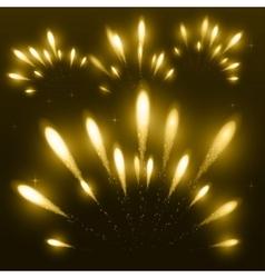 Yellow firework vector image
