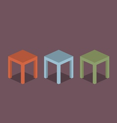 Chairs Flat Design vector image vector image