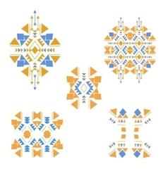coloredtribalelements vector image