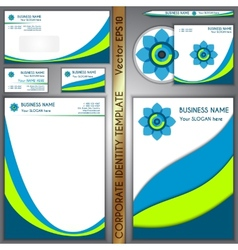 corporate brand template vector image