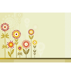 Many colour flowers vector image