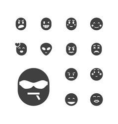 13 emoji icons vector