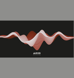 3d solid surface audio wavefrom abstract vector image