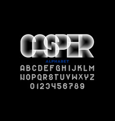 abstract disappeared style font vector image