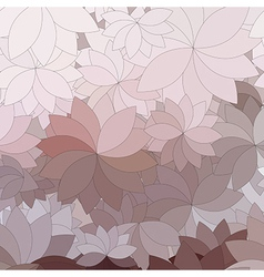 abstract flowers and petals vector image
