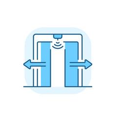 Automatic door blue rgb color icon vector
