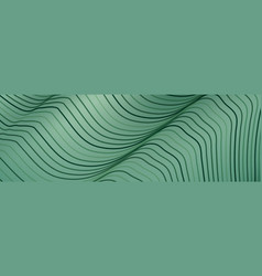 Banner wave lines pattern an abstract stripe vector