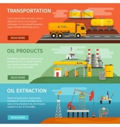 Banners Set Oil Petrol Industry vector