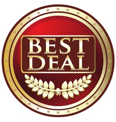 Best Deal Red Label vector image