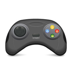 Black Gamepad vector image
