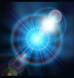 blue magic light star background vector image