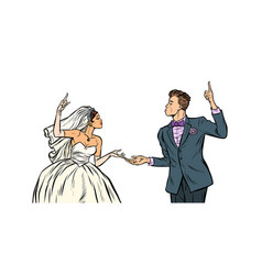 Bride and groom wedding couple vector