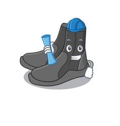 Caricature design concept dive booties vector