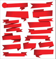 collection red sale stickers and tags vector image