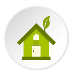 eco house icon circle vector image