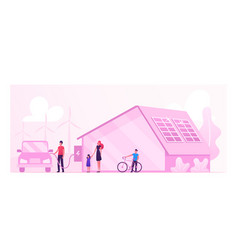 eco house renewable energy and environment vector image