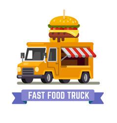 Fast food van vector