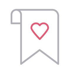 Favorite bookmark sheet vector