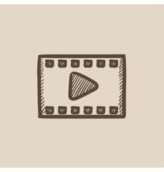 Film frame sketch icon vector image