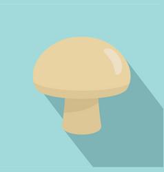 fresh champignon icon flat style vector image