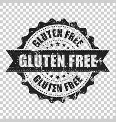 gluten free scratch grunge rubber stamp vector image