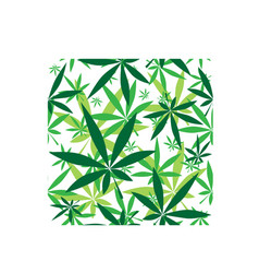 Green cannabis leaves seamless pattern vector